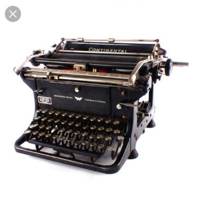 werkende typemachine met lint 17,50