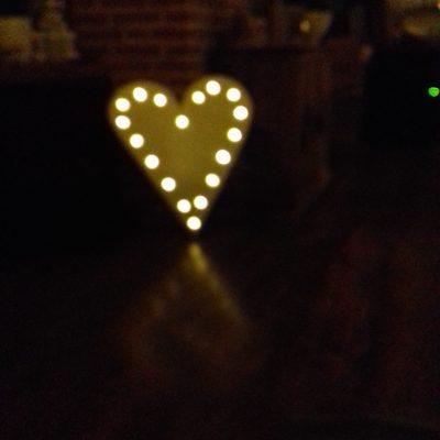 60 cm hart verlicht