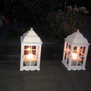 2 windlichten 60 cm 15 euro